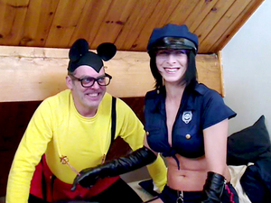 Mickey Mouse  vs Officer Bianca !!!